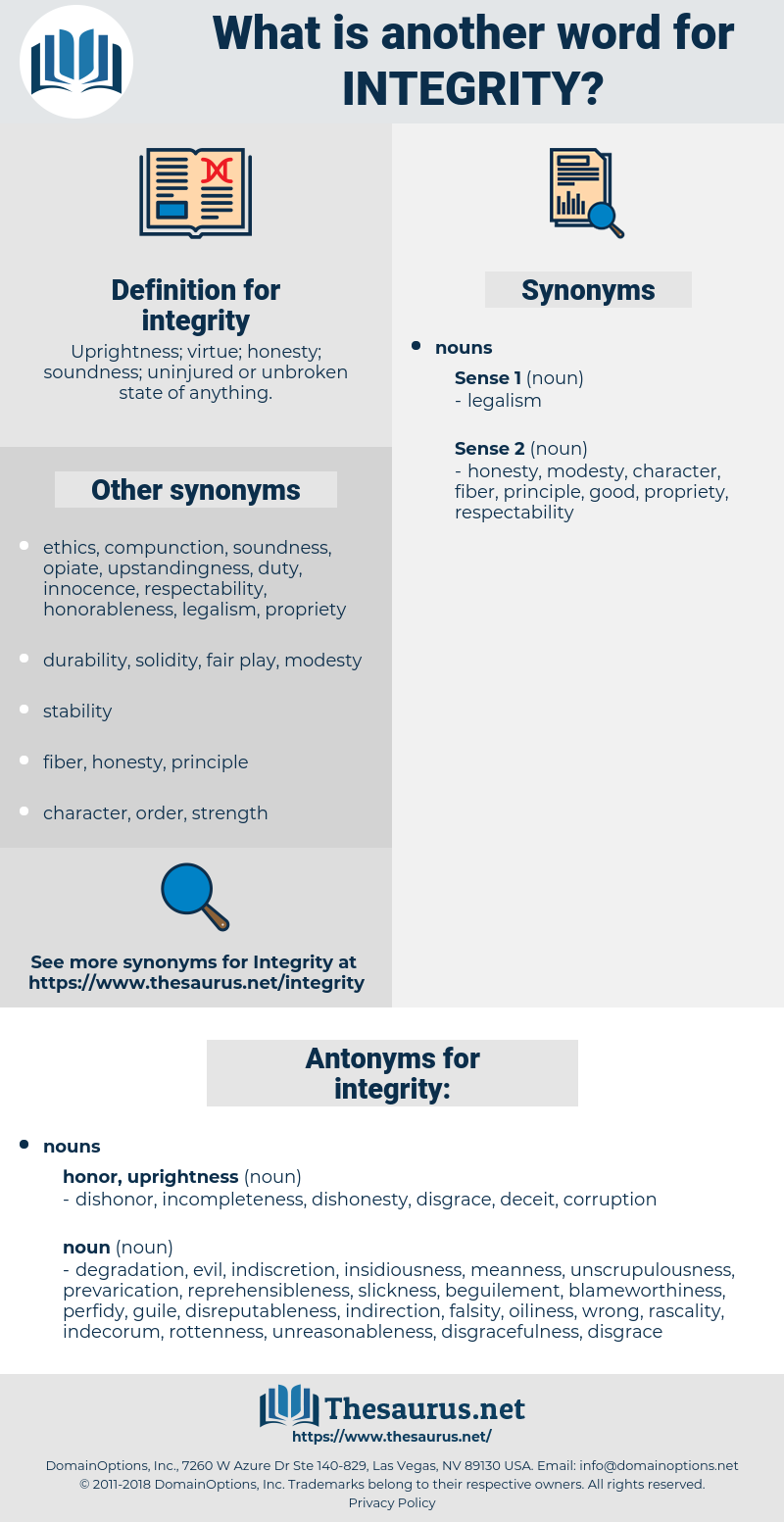 integrity, synonym integrity, another word for integrity, words like integrity, thesaurus integrity