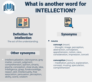 intellection, synonym intellection, another word for intellection, words like intellection, thesaurus intellection