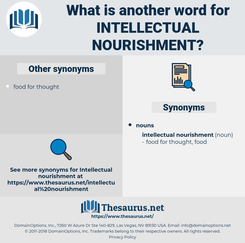 intellectual nourishment, synonym intellectual nourishment, another word for intellectual nourishment, words like intellectual nourishment, thesaurus intellectual nourishment