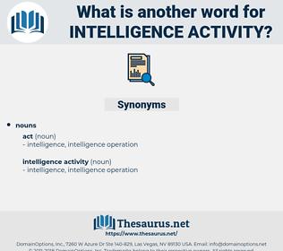 intelligence activity, synonym intelligence activity, another word for intelligence activity, words like intelligence activity, thesaurus intelligence activity