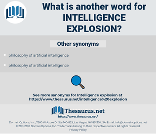 intelligence explosion, synonym intelligence explosion, another word for intelligence explosion, words like intelligence explosion, thesaurus intelligence explosion
