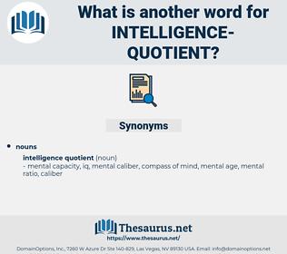 intelligence quotient, synonym intelligence quotient, another word for intelligence quotient, words like intelligence quotient, thesaurus intelligence quotient