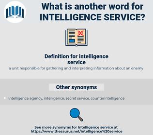 intelligence service, synonym intelligence service, another word for intelligence service, words like intelligence service, thesaurus intelligence service