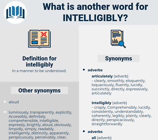 intelligibly, synonym intelligibly, another word for intelligibly, words like intelligibly, thesaurus intelligibly