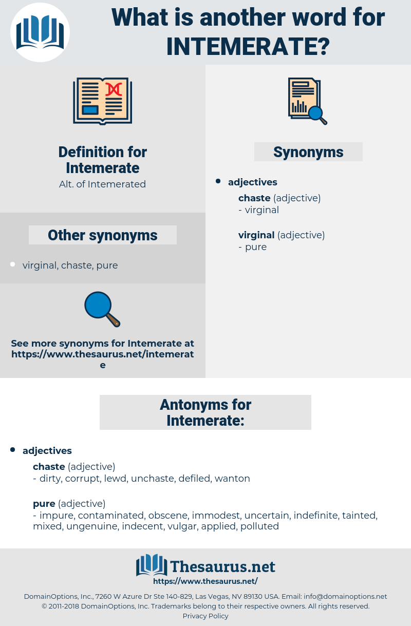 Intemerate, synonym Intemerate, another word for Intemerate, words like Intemerate, thesaurus Intemerate