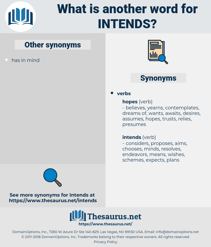 intends, synonym intends, another word for intends, words like intends, thesaurus intends