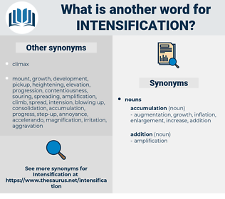 intensification, synonym intensification, another word for intensification, words like intensification, thesaurus intensification