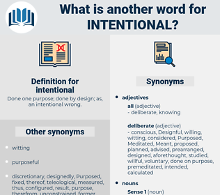 intentional, synonym intentional, another word for intentional, words like intentional, thesaurus intentional