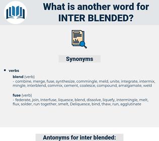 inter blended, synonym inter blended, another word for inter blended, words like inter blended, thesaurus inter blended