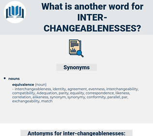 inter-changeablenesses, synonym inter-changeablenesses, another word for inter-changeablenesses, words like inter-changeablenesses, thesaurus inter-changeablenesses