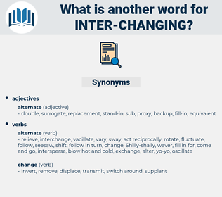 inter changing, synonym inter changing, another word for inter changing, words like inter changing, thesaurus inter changing