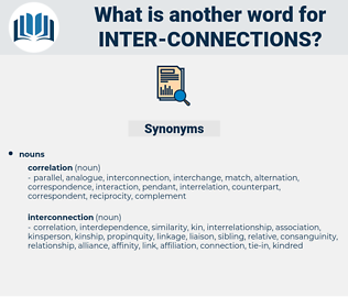 inter connections, synonym inter connections, another word for inter connections, words like inter connections, thesaurus inter connections