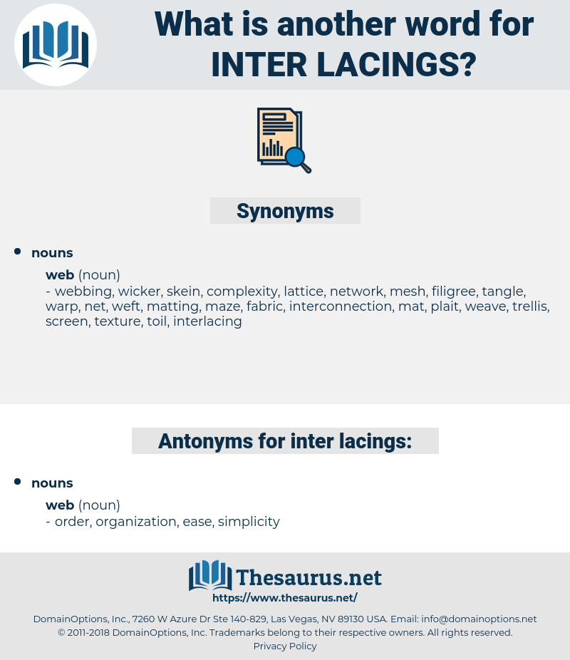 inter-lacings, synonym inter-lacings, another word for inter-lacings, words like inter-lacings, thesaurus inter-lacings