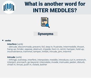 inter meddles, synonym inter meddles, another word for inter meddles, words like inter meddles, thesaurus inter meddles