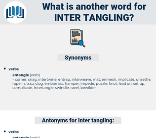 inter-tangling, synonym inter-tangling, another word for inter-tangling, words like inter-tangling, thesaurus inter-tangling