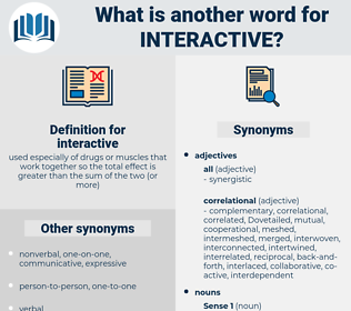 interactive, synonym interactive, another word for interactive, words like interactive, thesaurus interactive