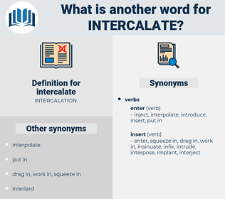 intercalate, synonym intercalate, another word for intercalate, words like intercalate, thesaurus intercalate