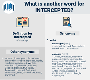 Intercepted, synonym Intercepted, another word for Intercepted, words like Intercepted, thesaurus Intercepted