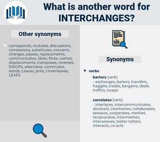 interchanges, synonym interchanges, another word for interchanges, words like interchanges, thesaurus interchanges