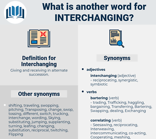 Interchanging, synonym Interchanging, another word for Interchanging, words like Interchanging, thesaurus Interchanging
