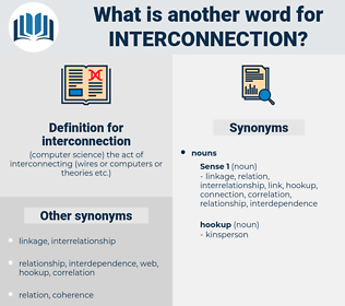 interconnection, synonym interconnection, another word for interconnection, words like interconnection, thesaurus interconnection