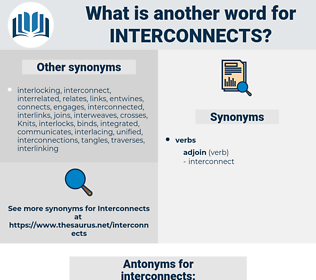 interconnects, synonym interconnects, another word for interconnects, words like interconnects, thesaurus interconnects