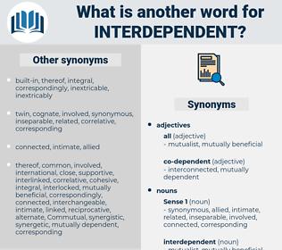 interdependent, synonym interdependent, another word for interdependent, words like interdependent, thesaurus interdependent