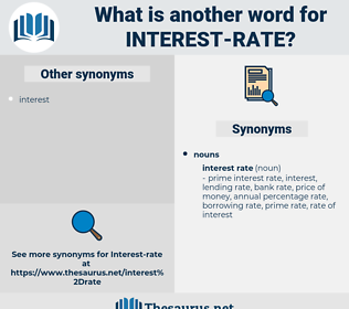 interest rate, synonym interest rate, another word for interest rate, words like interest rate, thesaurus interest rate