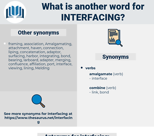 interfacing, synonym interfacing, another word for interfacing, words like interfacing, thesaurus interfacing