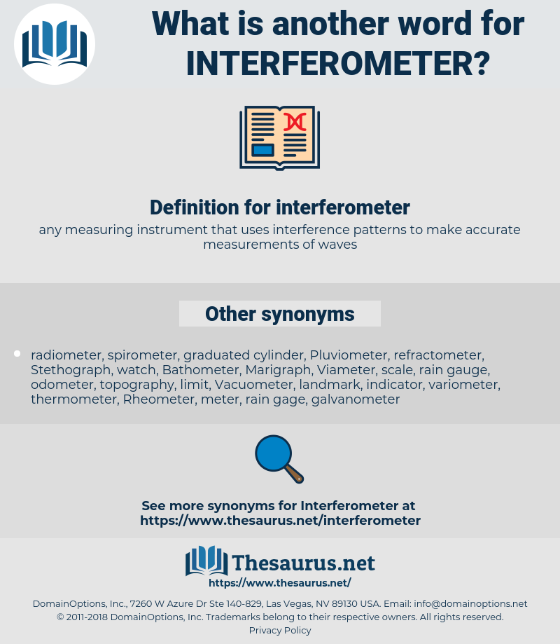interferometer, synonym interferometer, another word for interferometer, words like interferometer, thesaurus interferometer