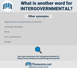 intergovernmental, synonym intergovernmental, another word for intergovernmental, words like intergovernmental, thesaurus intergovernmental