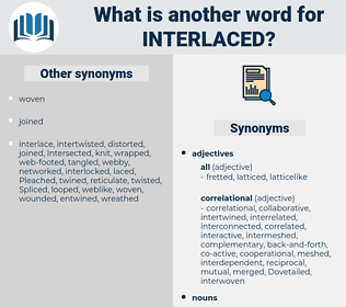 interlaced, synonym interlaced, another word for interlaced, words like interlaced, thesaurus interlaced