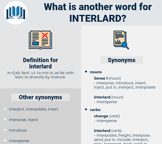 interlard, synonym interlard, another word for interlard, words like interlard, thesaurus interlard