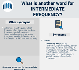 intermediate frequency, synonym intermediate frequency, another word for intermediate frequency, words like intermediate frequency, thesaurus intermediate frequency