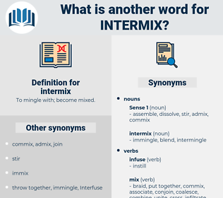 intermix, synonym intermix, another word for intermix, words like intermix, thesaurus intermix