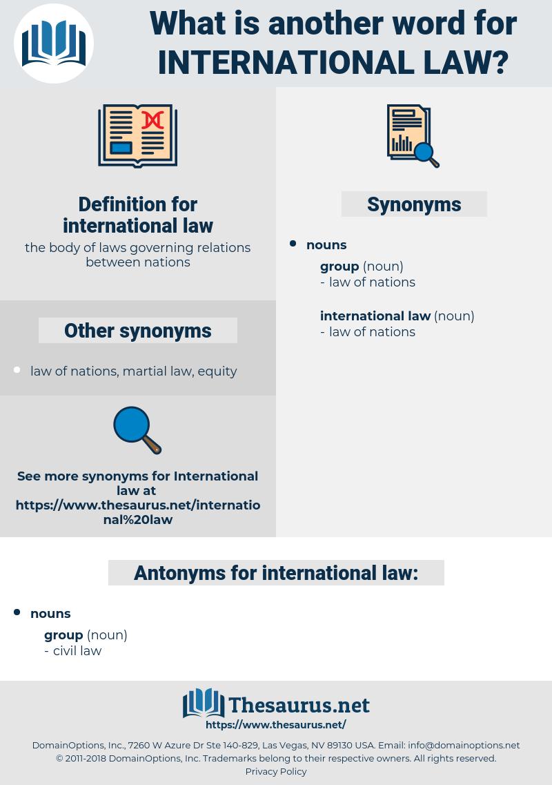 international law, synonym international law, another word for international law, words like international