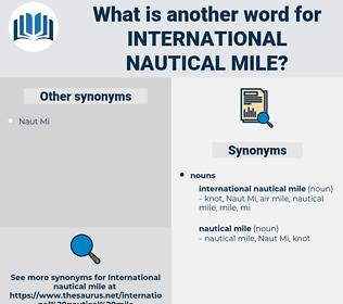 international nautical mile, synonym international nautical mile, another word for international nautical mile, words like international nautical mile, thesaurus international nautical mile