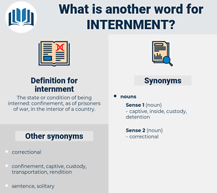 internment, synonym internment, another word for internment, words like internment, thesaurus internment