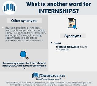 Internships, synonym Internships, another word for Internships, words like Internships, thesaurus Internships