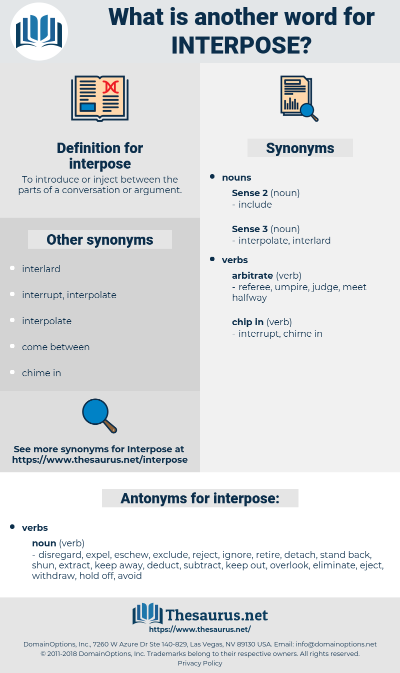 interpose, synonym interpose, another word for interpose, words like interpose, thesaurus interpose