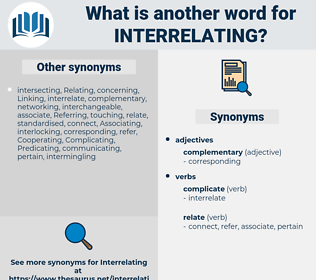 interrelating, synonym interrelating, another word for interrelating, words like interrelating, thesaurus interrelating