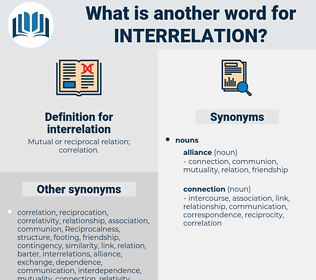 interrelation, synonym interrelation, another word for interrelation, words like interrelation, thesaurus interrelation