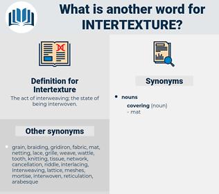 Intertexture, synonym Intertexture, another word for Intertexture, words like Intertexture, thesaurus Intertexture