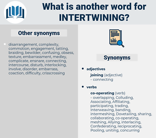 intertwining, synonym intertwining, another word for intertwining, words like intertwining, thesaurus intertwining
