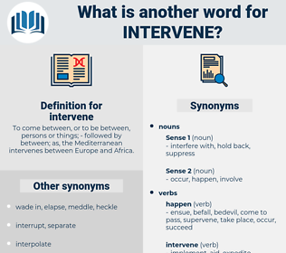 intervene, synonym intervene, another word for intervene, words like intervene, thesaurus intervene