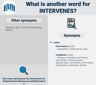 intervenes, synonym intervenes, another word for intervenes, words like intervenes, thesaurus intervenes