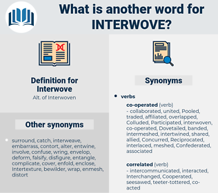 Interwove, synonym Interwove, another word for Interwove, words like Interwove, thesaurus Interwove