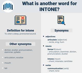 intone, synonym intone, another word for intone, words like intone, thesaurus intone