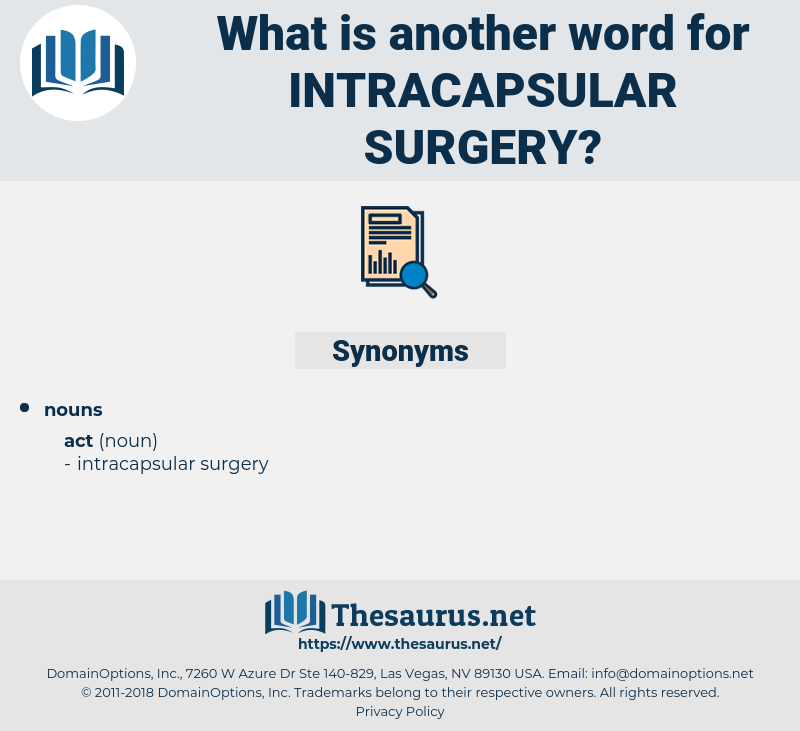 intracapsular surgery, synonym intracapsular surgery, another word for intracapsular surgery, words like intracapsular surgery, thesaurus intracapsular surgery