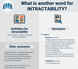intractability, synonym intractability, another word for intractability, words like intractability, thesaurus intractability
